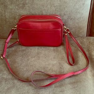 Banana Republic Leather DoubleZip Camera Crossbody
